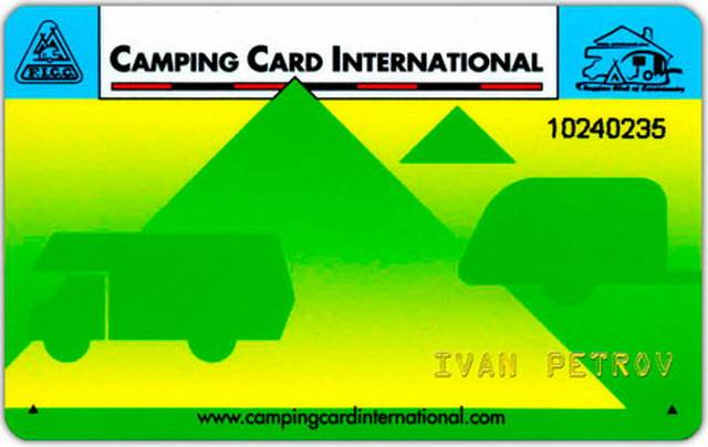 Международная кемпинговая карта. Camping Card International